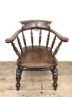19th Century Ash and Elm Smoker's Bow Chair or Captain's Armchair (2 of 11)