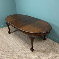 Edwardian Walnut Wind-out Extending Antique Dining Table (4 of 9)