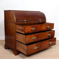 Cylinder Bureau Georgian Writing Desk Chest (8 of 12)