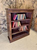 English 19th Century Mahogany Open Bookcase (5 of 5)