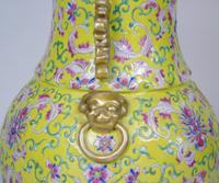 19th Century Chinese Porcelain Vase Famille Jaune (7 of 10)