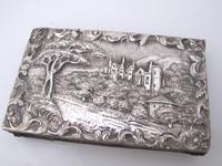 Magnificent William IV Silver Double Castle Top Aid Memoir Joseph Willmore Birmingham 1836 (9 of 9)