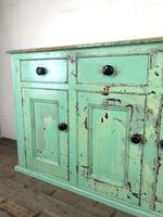 Victorian Antique Pine Painted Dresser Base Sideboard (9 of 14)