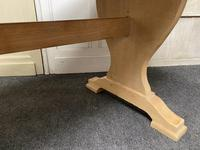 French Trestle End Refectory Farmhouse Dining Table (13 of 17)