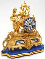 Stunning Complete French Mantel Clock Under Dome with Base Figural Sevres Mantle Clock. (10 of 10)