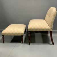 Regency window seat and matching stool (2 of 9)