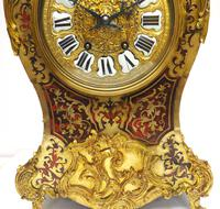 Rare Large Antique French Boulle Mantel Clock Ormolu Inlay 8 Day Mantle Clock (6 of 16)