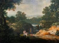 Exceptional Large 1700s Old Master Giltwood Landscape Oil on Canvas Painting (13 of 17)