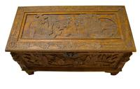 Early 20th Century Chinese Style Carved Camphorwood Chest (5 of 11)