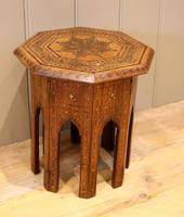 Small Anglo Indian Hexagonal Teakwood Table (5 of 7)