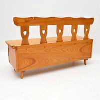 Vintage Solid Elm  Alpine Storage Bench (8 of 8)