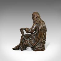 Antique Fontaine Figure, French, Bronze, Statue, after Ernest Rancoulet c.1920 (10 of 12)