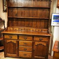 Oak open rack dresser with cupboard and draw base (13 of 14)