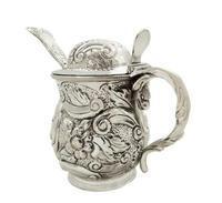 Antique Georgian Sterling Silver Mustard Pot 1819 (8 of 10)