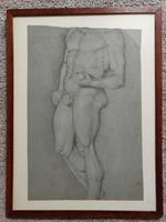 Antique Original 19th Century Drawing of Nude Male Figure (7 of 20)