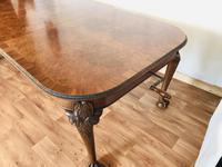 Burr Walnut Extending Dining Table (13 of 17)