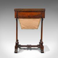 Antique Fold Over Games Table, English, Rosewood, Chess, Cards, Regency c.1820 (5 of 12)