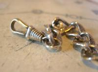 Antique German Pocket Watch Chain 1920s Ornate Silver Nickel Fancy Albert (9 of 11)