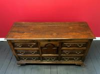 Beautiful 18th Century Georgian Period English Country Oak Mule Chest Sideboard Cabinet (4 of 19)