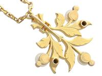 Pearl, Diamond & 21ct Yellow Gold Pendant - Antique c.1890 (5 of 9)