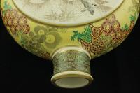Antique Meiji Japanese Satsuma Moon Flask Vase - Signed (13 of 14)