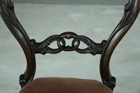 Set of 4 Rosewood Balloon Back Dining Chairs (8 of 12)