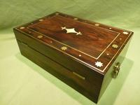 Regency Style Inlaid Rosewood Jewellery – Table Box c.1830 (5 of 11)