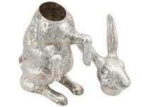 Sterling Silver Hare Sugar Box - Antique Victorian (8 of 12)