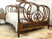 Antique Bentwood Large Double Bed By Jacob & Josef Kohn c.1900 (2 of 12)