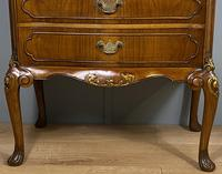 Shaped Walnut Three Drawer Table - Waring & Gillow (8 of 12)