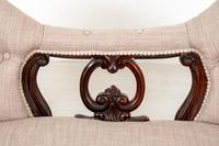 Victorian Rosewood Camel Back Settee (4 of 6)