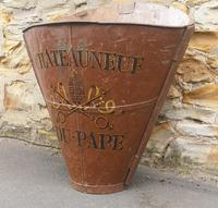 Chateauneuf Du Pape French Galvanised Metal Grape Pickers Hod / Bucket (2 of 6)