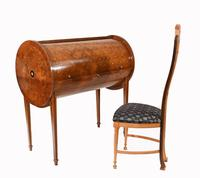 Art Deco Roll Top Desk & Chair Set 1920s (2 of 16)