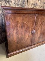 Large Burr Walnut Two Door Inlaid Cupboard (3 of 8)