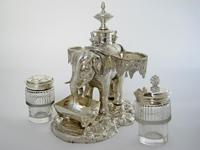 Over Size Victorian Silver Plated Elephant Cruet Set (2 of 8)
