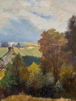 'Sheep In The Yorkshire Dales' - Original 1943 Vintage Landscape Oil Painting (10 of 12)