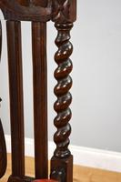 Pair of 1910 Oak Barley Twist Armchairs (9 of 15)