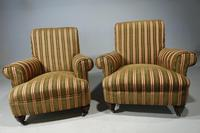 Handsome Pair of Early 20th Century Mahogany Framed Drawing Room Chairs (5 of 7)