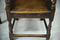 Pair of 17th Century Style Oak Armchairs (6 of 9)
