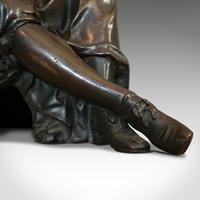 Antique Fontaine Figure, French, Bronze, Statue, after Ernest Rancoulet c.1920 (5 of 12)