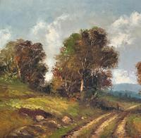 Large Fabulous Early 1900s British Farming Impressionist Landscape Oil Painting (5 of 13)