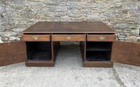 Huge Antique Victorian Oak Partners Desk (19 of 24)