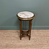 Small Country House Gilt Antique Occasional Table (4 of 6)
