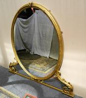 Large 5' Gilt Overmantel Mirror (6 of 6)