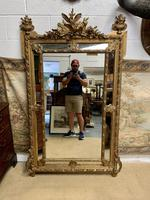 Large 19th Century French Gilt Mirror (3 of 8)