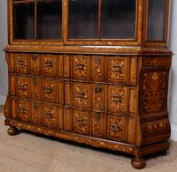 Dutch Bombe Bookcase Vitrine Display Cabinet on Chest Glazed (8 of 17)