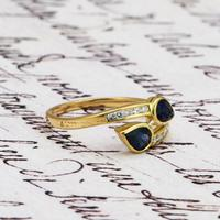 The Vintage Paired Snake Sapphire Ring (4 of 4)