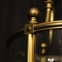 French Bronze Triple Light Antique Lantern (9 of 10)