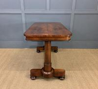 Good William IV Rosewood Library Stretcher Table (8 of 12)