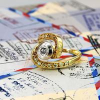 The Vintage Spiral Infinity Diamond Ring